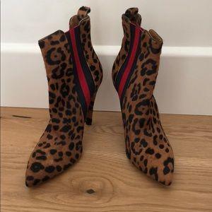 Veronica Beard Leopard Booties